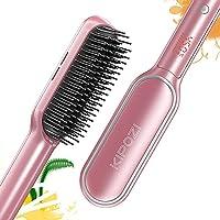 KIPOZI Ionic Hair Straightener Brush with 13 Heat Settings