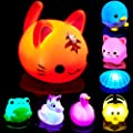 Bath Toys for Toddlers Baby 8 Pack Light Up Toys - Bathtub Toy Flashing Colourful LED Light Shower Bathtime For Kids Toddler Child Infants Preschool Bathroom Bathtub Shower Swimming Pool Party Games