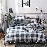 Bonhause Bettwäsche-Set, King-Size-Bett, graues Büffelmuster, 3-teilig (1 Bettbezug + 2 Kissenbezüge), ultraweiche Mikrofaser