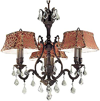 "Classic Lighting 57363 AGB CP Majestic, Crystal, Chandelier, 24"" x 24"" x 27"", Aged Bronze"