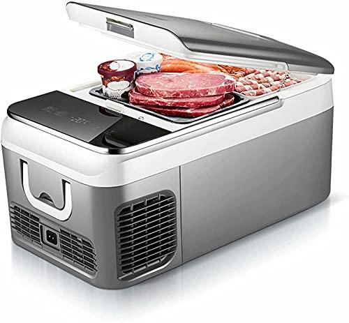 Congelador portátil para automóvil Mini refrigerador 12 / 24V 18 L Mini refrigerador Congelador Refrigerador para automóvil Caja de enfriamiento eléctrico Refrigerador silencioso para automó