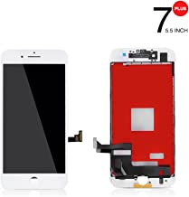 PassionTR Iphone 7 Plus White LCD Screen Replacement Touch Screen Digitizer Frame Assembly (5.5 Inch)