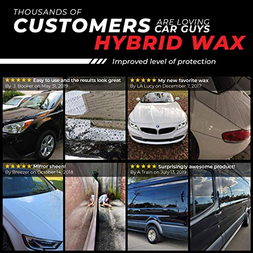 CAR GUYS Hybrid Wax - Advanced Car Wax - Long Lasting and Easy to Use - Safe on All Surfaces - 18 Oz Kit