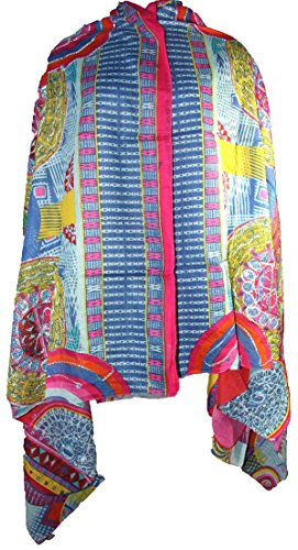 Hand-Embroidered Printed Cotton Scarf Wrap Long Large Beach Cover-Ups Yoga Bohemian Boho Indian Gypsy Hippie Big Sarong 1936