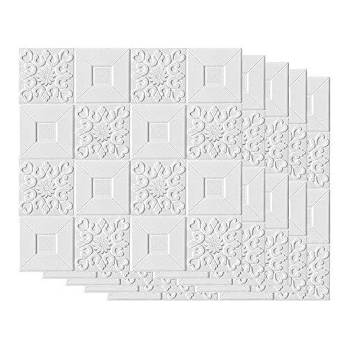 Baalaa Pegatinas de pared estéreo 3D autoadhesivas para techo, paneles decorativos de espuma de techo, sala de estar, decoración del hogar, fondo de TV