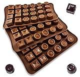 UMI. by Amazon - 3er Pack - Schokoladenform, Pralinenform, Antihaft-Silikon, Schokolade selbst...