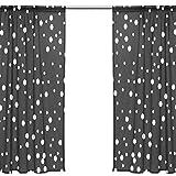Orediy Vorhang aus Voile, transparent, 2 Paneele, weiße Konfetti-Punkte, 40 % Verdunkelungsstange, lange Gardine, Fensterbehandlung, Schlafzimmer, Wohnzimmer, 2* 140W x 213 H