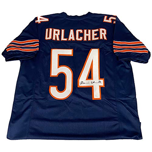 Brian Urlacher Autographed Navy Chicago Bears Jersey - JSA Authentic