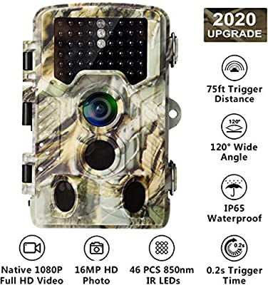 AlfaView Trail Camera 1080P HD Game & Hunting Camera with Wide Angle Lens Motion Activated Waterproof IP56 Wildlife Hunting Camera …