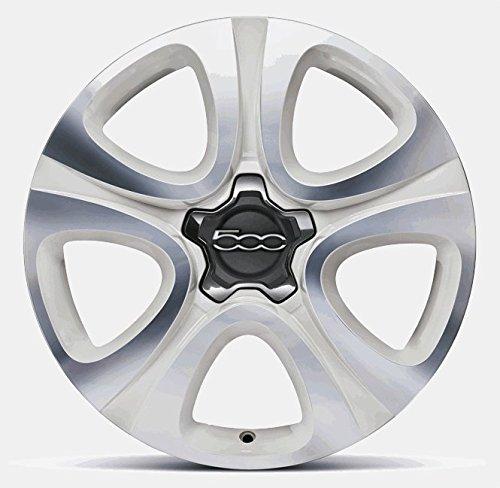 Llantas de aleación para Fiat 500X de 18 pulgadas, color blanco, diamantes pulidos