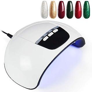 Nail inteligente Secadora de doble fuente de luz 45W Lámpara eléctrica de uñas de manicura máquina/lámpara UV LED con 15pcs Cuentas