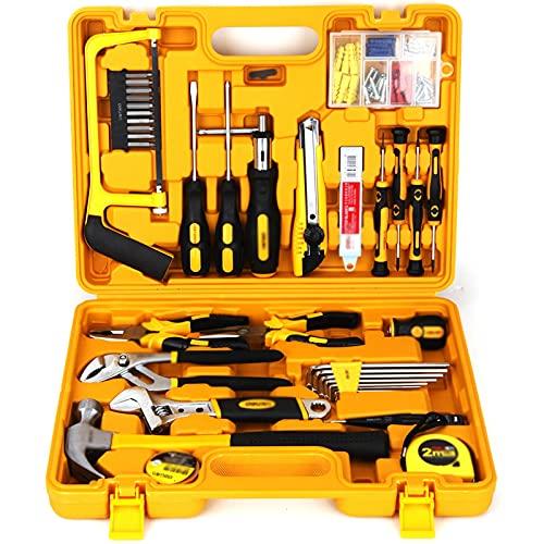 juego de alicates Juego de herramientas de herramientas de combinación multi-combinación de 44 piezas Conjunto de herramientas de hardware de la caja de herramientas del hogar Mantenimiento de la herr