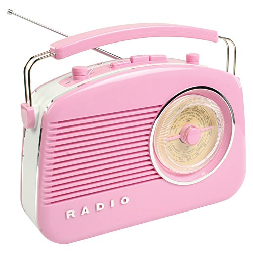 König HAV-TR710PI Retro-Design AM/FM-Radio pink