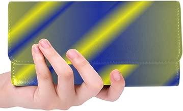 Unique Custom Design Design Women Trifold Wallet Long Purse Credit Card Holder Case Handbag