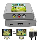 RCA to HDMI Converter AV to HDMI Cable 3 RCA CVBS Composite to HDMI Support 16:9/4:3 Switch AV Adapter Supporting PAL NTSC for PC Laptop TV STB VHS VCR Camera DVD Etc…
