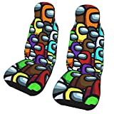 PARROT BEEK Among Us Double Car Seat Cover 3D Car Seat Cushion Protective Cover Wide Compatibility and Full Inclusion