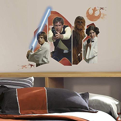 BAOWANG Adesivi Murali Riposizionabile Star Wars Episodio VII: Personaggi classiciScoppianoAdesivi muraliVinileMulti46x13x2,3 cm
