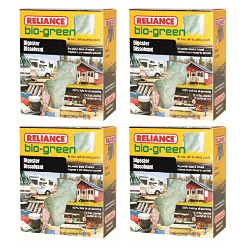 Reliance Bio-Green Waste Digester 12 Pouches (Pack of 4)