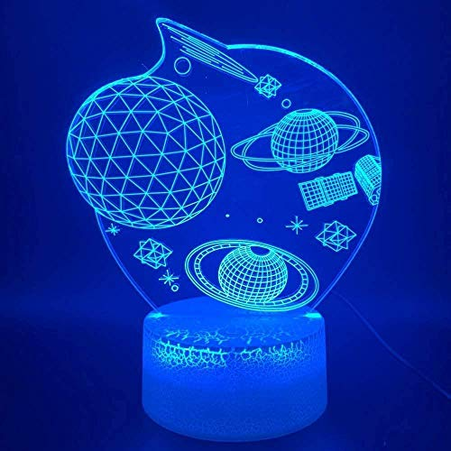 3D Illusion Lamp Led Night Light Space Outer Space Universe Planet Office Family Room Decoration Gift Children Kids