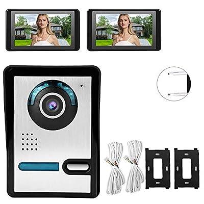 Wireless Video Doorbell, HD Video Door Phone Doorbell Intercom Kit Home Gate Entry System with Weatherproof,Night Vision Door Phone Monitor(US)