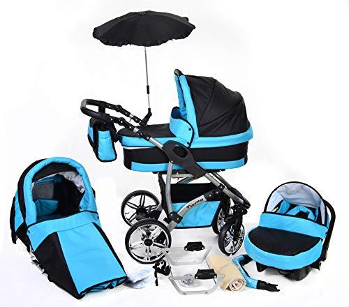 You and Baby TWING Reise-Kinderwagen 3in1 | mit Zubehör | Für Kinder ab der Geburt bis 3 Jahre | Gewicht 8,5 kg | Faltmaß mit Rädern B90 x T61 x H28