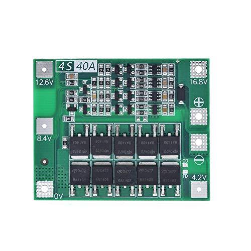 Fltaheroo 4S 40A 18650 Cargador de BateríA de Litio de Iones de Litio Placa PCB MóDulo de ProteccióN BMS para Motor de PerforacióN MóDulo de Celda de Lipo de 14.8V 16.8V