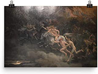Retrograde Ink Peter Nicolai ARBO - The Wild Hunt of Odin - Painting