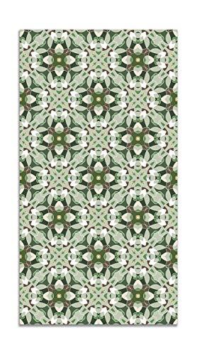 Panorama Alfombra Vinílica Baldosa Modelo Oriental Verde 80x150 cm - Alfombra Cocina Vinilo - Alfombra Salón Antideslizante e Ignífuga - Alfombras Grandes - Alfombras PVC
