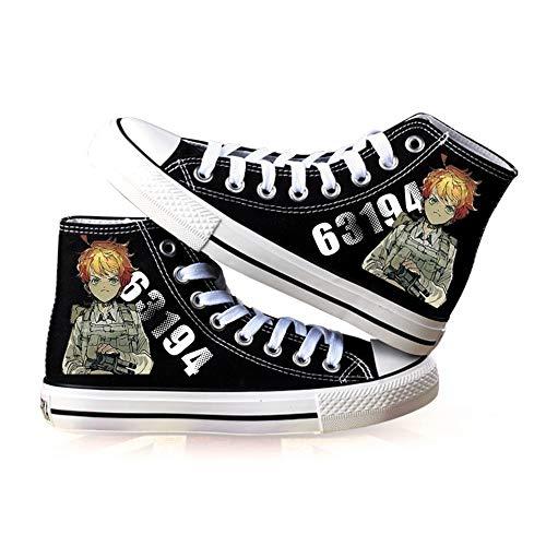 NLJ-lug The Promised Neverland Zapatos De Anime Unisex Zapatos De Lona De...