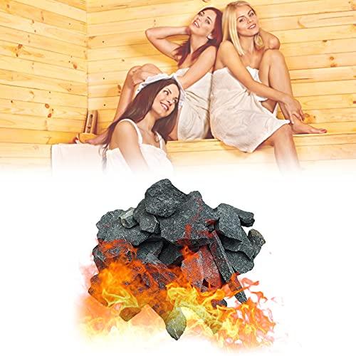 YHWD Piedra volcánica de Sauna Piedra de Sauna, 16-18 kg / 35-40 LB Piedra calefactora de Sauna para Cuencos de Fuego, fogatas y chimeneas de Interior o Exterior o Estufa de Sauna
