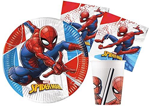 Ciao- Spider-Man Kit Mesa Fiesta, Color rojo, azul, blanco (Y5068)
