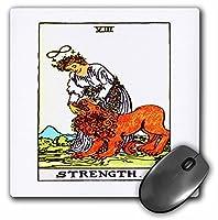 3drose LLC 8x 8x 0.25インチマウスパッド、Tarot Card The Strength ( MP _ 62442_ 1)