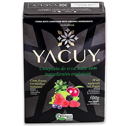 Circle of Drink - Yacuy Apple Berry - Gourmet Organic Erva Mate Chimarrao - Vacuum Sealed - Super Fresh Green Yerba Mate - 500g, 1.1 lb (1 PACK)