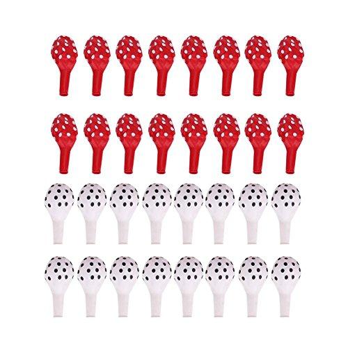 oueaen Punkt Luftballons, 32 Stück/Set Punkte Latex Luftballons Dekoration für Geburtstag Verlobung Hochzeit(2#)
