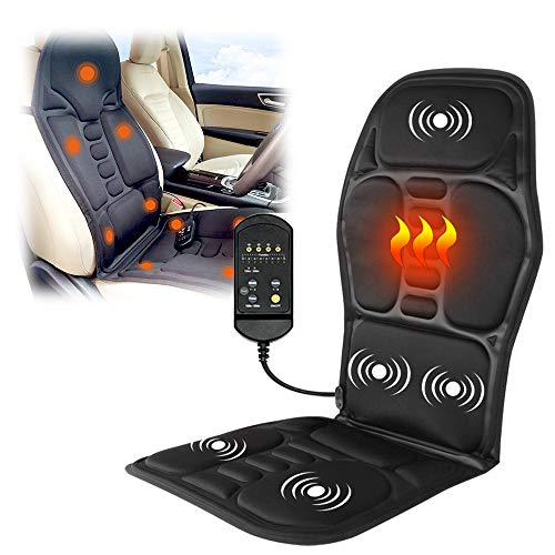 Dr.Taylor Electric Back Massager Chair Cushion, Multi Function Heated Massage Car Seat Vibrator Mat, Neck Relax Pad for Home Car Office