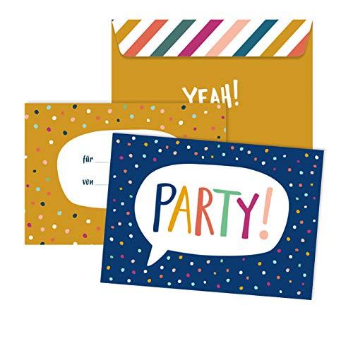 Einladungskarten Kindergeburtstag | 6 Karten mit Umschlag | 6er Set | Geburtstagseinladungen für Jungs und Mädchen (Party)