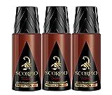 Scorpio Collection L'Homme - Desodorante antitranspirante protección 48h, 150ml, 3 unidades