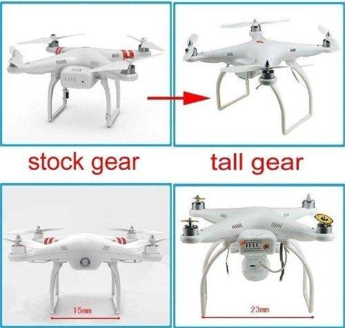 Qiyun Hobbypower Tall Landing Gear for DJI Phantom 1 2 Vision Quadcopter Wide & High Extend (White)
