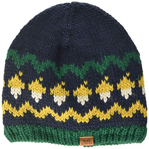 maximo Jungen ohne Rand mit Mustermix Mütze, Mehrfarbig (Navy/Curry 4829), (Herstellergröße: 53/55)