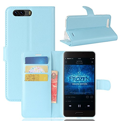 Litao-Case CN Hülle für Blackview P6 hülle Flip Leder + TPU Silikon Fixierh Schutzhülle Case 6