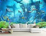 Fotomural Grande 3D Wallpapersdelfín Marino Del Océano Bajo El Agua Fondo De La Pared 3D...