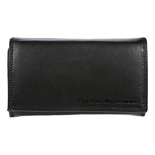 Christian Wippermann Damen Leder Geldbörse Portemonnaie 15,5x9,5x4,0 cm Tüv Geprüftem RFID Schutz Plus Geschenkbox