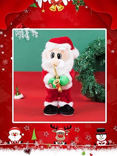 LVYI Die Ornament spielt das Saxophon Elektro Twisting Weihnachtsmann, gebraucht schmücken den Weihnachtsbaum des neuen Jahres Geschenk for Kinder