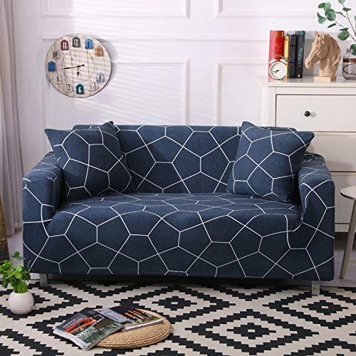 NOBCE Impresión de la Cubierta del sofá Fundas de sofá elásticas Fundas de sofá para Sala de Estar Sofá de Esquina Toalla Funda de sofá Funda para Muebles 190-230CM