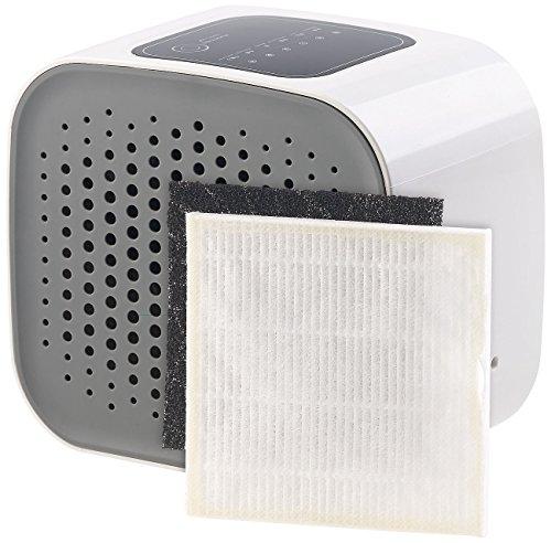 newgen medicals Raumluftfilter: 3in1-Design-USB-Luftreiniger, HEPA- & Aktivkohle-Filter, Ionisator (Mini Luftreiniger)