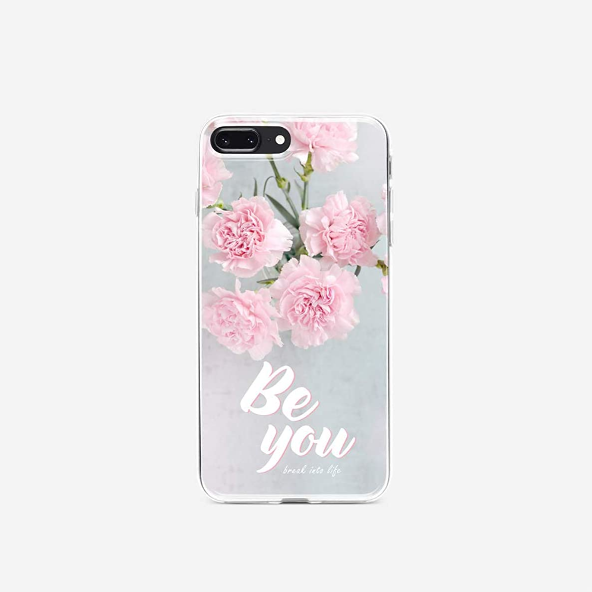 LookSeven iPhone X & iPhone Xs Elegant Vintage Floral Pattern Durable Slim Protector Clear Case Cover for iPhone X & iPhone Xs #2