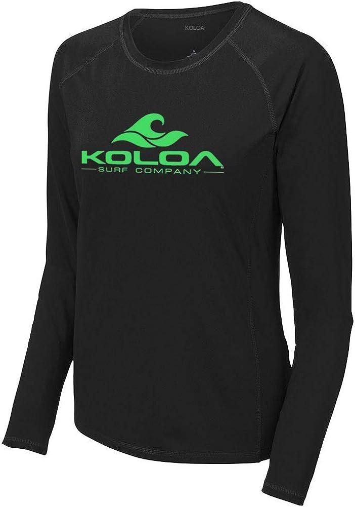 Koloa Surf Ladies Classic Wave Logo UPF 50 Rashguard Long Sleeve Tees