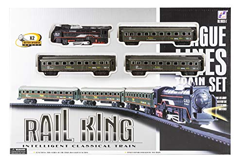 Toys Outlet Rail King 540869763. Set de ferrocarril clásico.