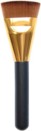 Professional Blend Makeup Flat Contour Face Cheeks Cosmetic Artificial Fiber Hair and Wooden Handle Brush (Multicolour)