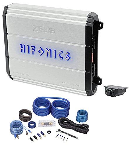 Hifonics Zeus ZXX-1800.1D 1800W RMS Mono Class D Car Audio Amplifier+Amp Kit